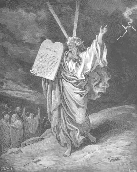 Moses Showing the Ten Commandments to the People (1865), Gustave Doré (1832-1883)