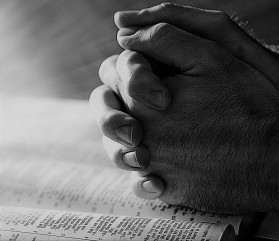 praying hands & Bible
