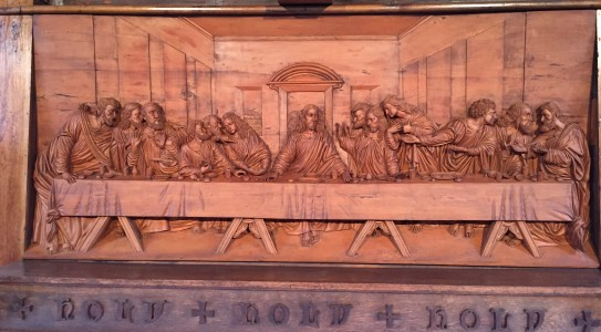Reredos, Epiphany Episcopal Church, Laurens, SC (2)