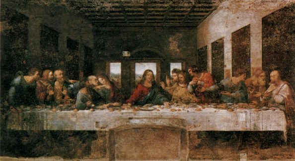 The Last Supper, Leonardo da Vinci (1494-1499), the Convent of Santa Maria delle Grazie, Milan.