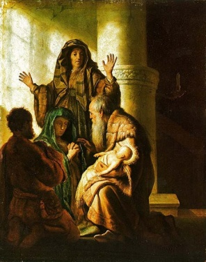 Simeon's Prophecy to Mary (1628), Rembrandt Harmenszoon van Rijn (1606-1669)