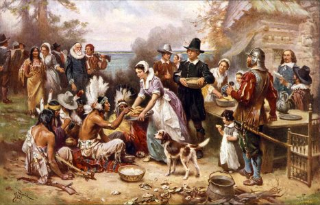 The First Thanksgiving, Jean Leon Gerome Ferris (1863-1930)