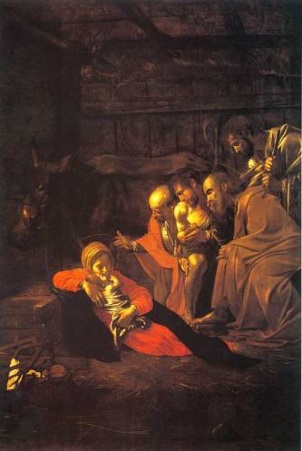 Adoration of the Shepherds (1609) Michelangelo Merisi da Caravaggio (1571-1610)