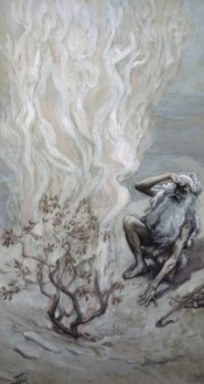 Moses adores God in the burning bush, James Tissot (1836-1902), French Jewish Museum, New York