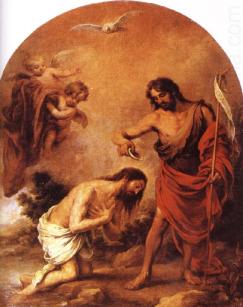 Baptism of Jesus, Bartolomé Esteban Murillo (1617-1682)