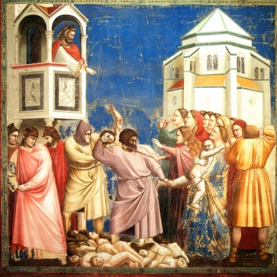 King Herod orders the Massacre of the Innocents, Giotto di Bondone (1267-1337)