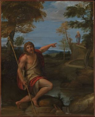 Saint John the Baptist Bearing Witness (c. 1600), Annibale Carracci (1560-1609)