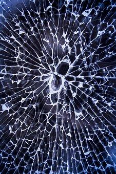broken glass - shattered mirror