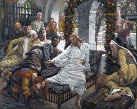 Woman anoints Jesus' feet, James Tissot (1836-1902)