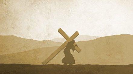 artwork - Jesus bearing cross