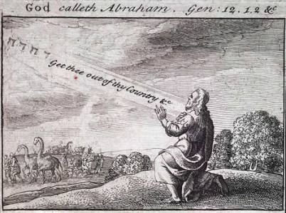 God calls Abram, Wenceslaus Hollar (1607-1677)