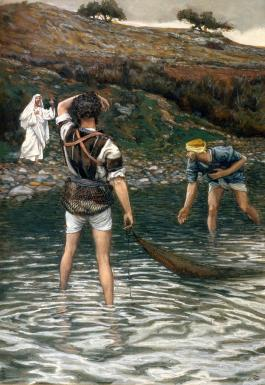 Jesus calling Peter and Andrew, James Tissot (1836-1902)