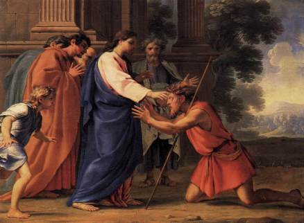 Jesus heals the blind man of Bethsaida, Eustache Le Sueur (1616-1655)