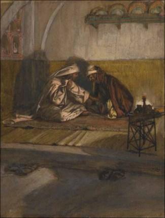 Nicodemus visits Jesus, James Tissot (1836-1902)