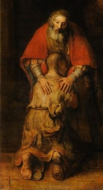 Return of the Prodigal Son (detail, Father and Son) (c. 1669), Rembrandt van Rijn (1606-1669)
