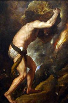 Sisyphus, Tiziano Vecelli (aka Titian) (1488-1576)
