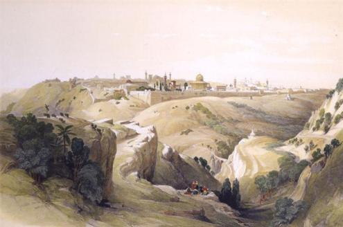 The Road to Jerusalem (1833), David Roberts (1796-1864)