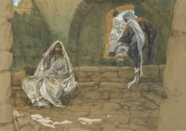 Jesus and the Samaritan woman by the well, James Tissot (1836-1902)