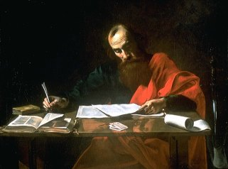 St. Paul Writing His Epistles (1620), Valentin de Boulogne (1594-1632)