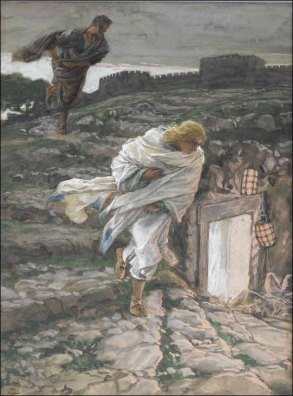 St. Peter and St. John Run to the Sepulchre, James Tissot (1836-1902)