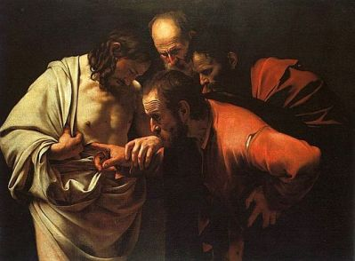 The Incredulity of Saint Thomas (c. 1601-1602), Michelangelo Merisi da Caravaggio (1571-1610)